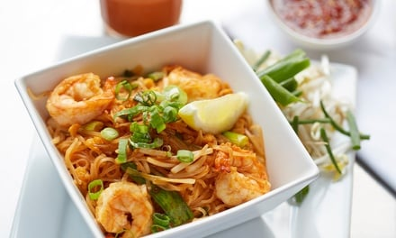 $29 for $50, or $55 for $100 Toward Thai Lunch or Dinner with Drinks at Time Kin Restaurant