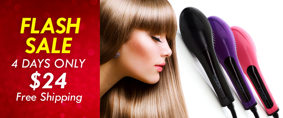 Get it While You Can! Straighten Your Locks Quickly and Easily with This Hair Straightening Brush, Available For Four Days Only! Only $24 with Delivery Included