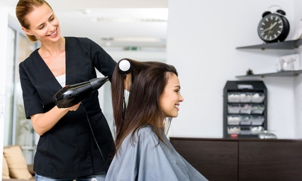 1 Session of Wash and Blow-Dry ($19) or 3 Sessions with Treatment ($75) at All About Salon (Up to $240 Value)