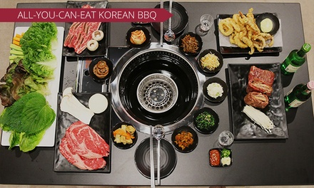 AYCE Korean BBQ with Desserts and Drinks for 2 ($59) or 4 People ($118) at K-Town Korean BBQ House (Up to $276 Value)