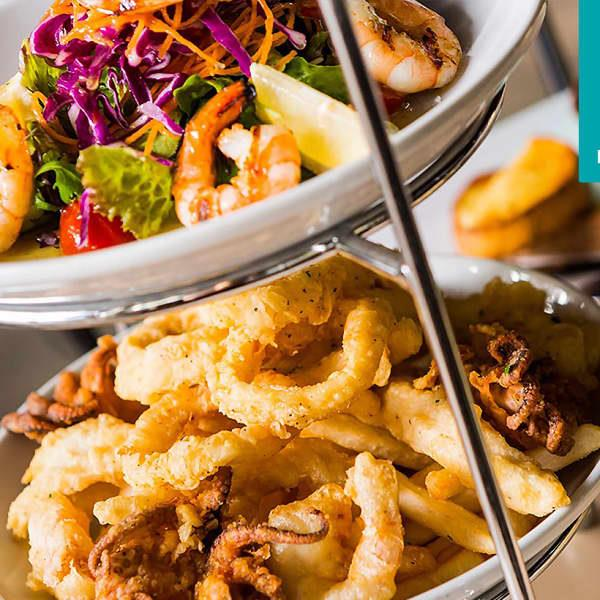 Two-Course Seafood or Meat Platter Lunch in Darling Harbour