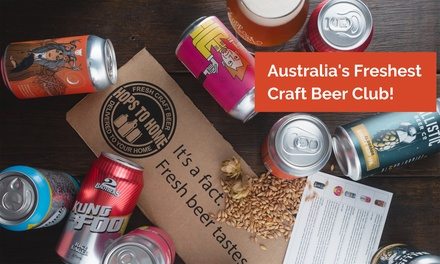 Craft Beer Subscription: One ($45), Three ($129) or Six Months ($249) from Hops to Home (Up to $419.70 Value)