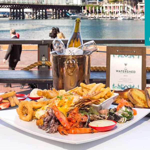 Darling Harbour Seafood Platter with Cocktails and Wine
