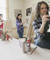 Social Painting Class with Coffee and Snacks for One ($29) or Two ($55) at A Painters Dream (Up to $110 Value)
