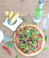Pizza, Garlic Bread, and Bottle of Wine for Two ($20) or Six ($59) at Armada Restaurant & Bar, CBD (Up to $156 Value)