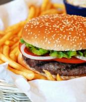 Burger with Chips, Sauce and Drink for One ($9) or Two people ($18) at Dougies Grill Kogarah (Up to $39.90 Value)