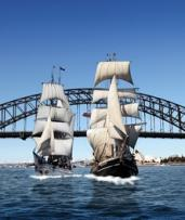 Lunch or Dinner Cruise Packages for 1 (From $69) or 2 People (From $135) by Sydney Harbour Tall Ships (Up to $274 Value)