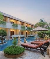 Bali: 2-7 Nights for 2 with Breakfast, Welcome Drink and Shuttle Bus to the Beach at Kuta Lagoon Resort and Pool Villas