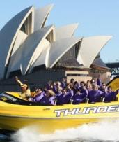 Jet Boat Ride for 1 ($39), 2 ($78), 4 ($156) or 6 People ($234) with Thunder Jet, Sydney Harbour (Up to $294 Value)
