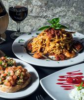Three Courses of Authentic Italian in The Rocks with a Bottle of Wine per Couple, from $59 for Lunch for Two People, or from $79 for Dinner (Valued Up To $172.30)