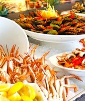 $119 for All-You-Can-Eat Seafood Buffet and Champagne Cocktail for Two People at Baygarden Restaurant (Up to $206 Value)