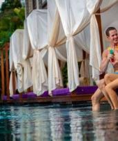 Bali, Legian: 5, 7 or 10 Nights or 2 or 4 People with Breakfast, Lunch/Dinner and Massage at 4* Astagina Resort and Spa