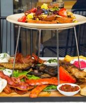 Brekky or Lunch Platter + Bubbles & Coffee: Small for 2 ($49) or Large for 4 Ppl ($98) at Basket Brothers (Up to $198)