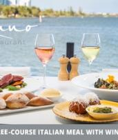 Three-Course Italian Meal for Two ($75) or Four People ($150) at Amano Restaurant (Up to $288 Value)