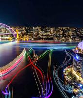 Experience Vivid from the Best Seat in the House with a Sydney Harbour Supercat Cruise - Save 50%!