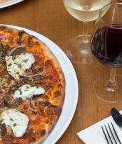 Three-Course Meal with Wine or Beer for One ($22), Two ($39) or Four People ($75) at B.Social (Up to $171.40 Value)