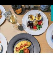Seafood Buffet Brunch with Sparkling Wine and Harbour Views