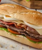 Takeaway Sandwich with Coffee for One ($9), Two ($18) or Four ($36) at Billy's Barista - Docklands (Up to $64.40 Value)
