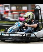 20-Lap Go-Kart Race with Balaclava and Water in Belmont