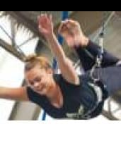 Two-Hour Indoor Flying Trapeze Class and Photos in St Peters