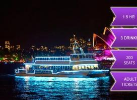 90-Minute Vivid Cruise + 3 Drinks from only $22