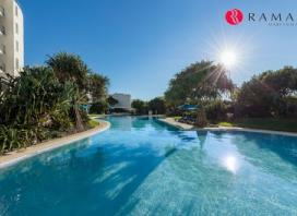 Sunshine Coast: 2 or 3 Nights for Up to Six with Wine, Bike Hire and Late Check-Out at Ramada Hotel Marcoola Beach