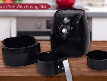 $99 for a Health Choice 3.2L Air Fryer with Baking Pan (Don't Pay $329)
