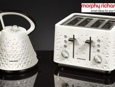 $179 for a Morphy Richards Prism-Design Toaster and Kettle Bundle in Black or White (Don't Pay $286.95)