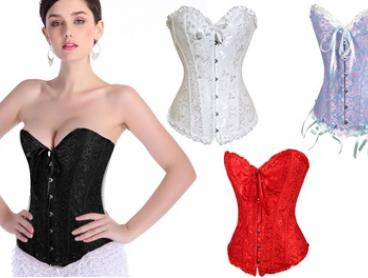 $22 for a Lace Corset with Matching G-String in Choice of Size