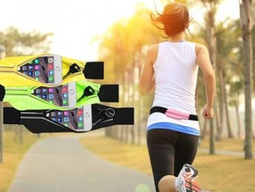 Reflective Running Belt with Smartphone Pocket in Choice of Colour - One ($12) or Two ($19)