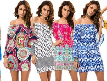 $19 for a Boho-Style Off-the-Shoulder Print Dress in a Range of Prints (Don't Pay up to $52)