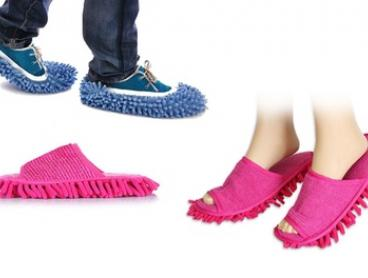 $9 for a Pair of Mop Slippers or $14 for a Pair of Mop Shoes in Choice of Colour