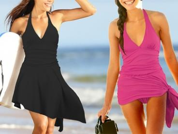 Skirted One-Piece Swimsuit: One ($19) or Two ($34)