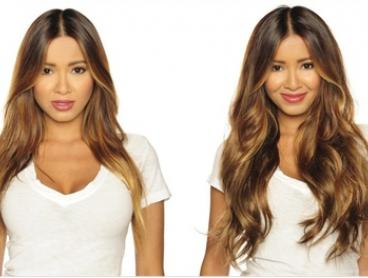 $25 for a Seven-Piece Set of Clip-On Hair Extensions in a Range of Sizes and Colours (Don't Pay $249)
