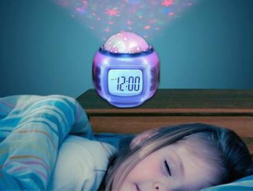 Moon and Star Projection Lamp and Alarm Clock: One ($17) or Two ($28)