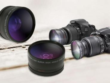Wide Angle and Macro DSLR Camera Lens Set for Canon or Nikon - One ($19) or Two Sets ($39)