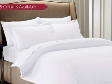 1,000TC Cambridge Quilt Cover Set in Choice of Five Colours - Queen ($55) or King ($65)