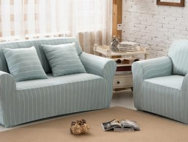 From $39 for a Stretchable Striped Cotton Sofa Cover in Choice of Colour
