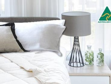 Australian Made Lightweight Summer Wool Quilt - Single ($49), Queen ($69) or King ($79) (Don't Pay up to $229 Value)