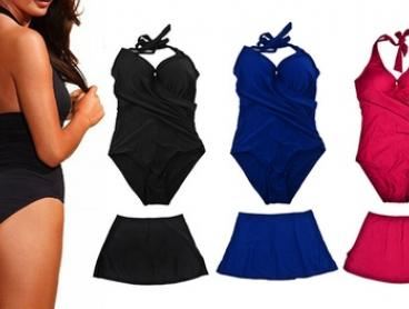 Push-Up Swimsuit with Removable Skirt: One ($19) or Two ($34)