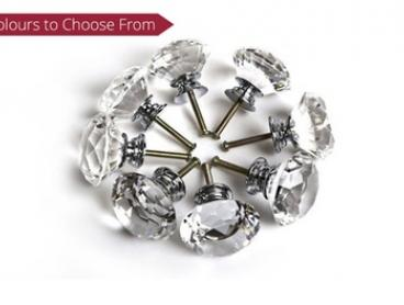 Crystal-Effect Door Knobs - 10 ($19) or 20 ($29) in Choice of Colour