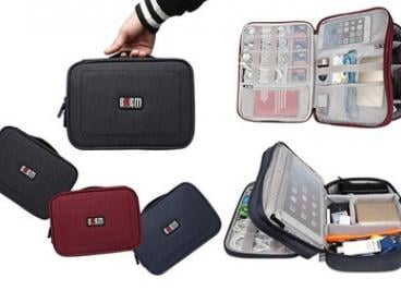 BUBM Double-Layered Travel Gadget Organiser Bag - S ($25), M ($29) or L ($35)