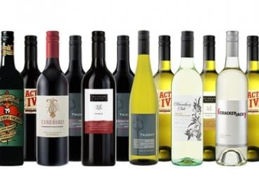 $65 for a 12-Bottle Mixed Case of Red and White Wine (Don't Pay $176.39)
