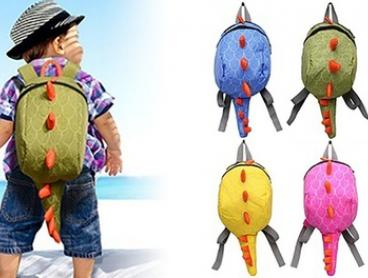 Kids' Colourful Dinosaur Backpack: One ($16) or Two ($24)