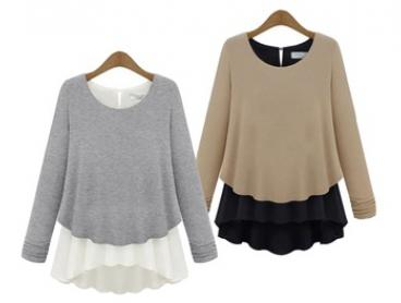 $16 Lightweight Double Layer Long Sleeve Top