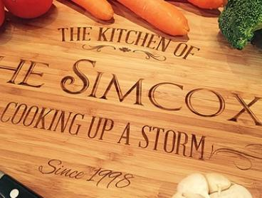 Father's Day Personalised Bamboo Chopping Board - Medium ($29.99) or Large ($44.99) (Don't Pay up to $119)