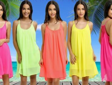 $16 for a Neon Summer Dress in Choice of Colour