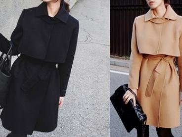 $39 for a Wool Blend Lapel Collar Trench (Don't Pay $149.95)