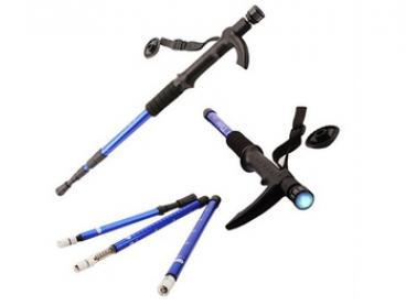 $16 Retractable Walking Stick with LED Flashlight