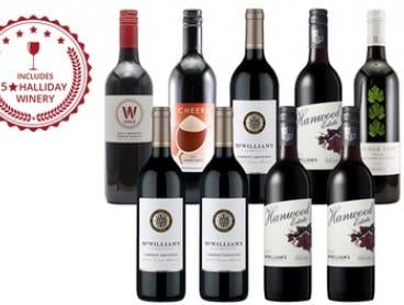 $49 for Nine Mixed Bottles of Red Wine Including Four Bottles from a Five-Star Winery (Don't Pay $129)